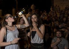 Rome (Blinkofanaye) Tags: rome june summer drinking wine fountain italy italia girls crowd young night tattoo lungotevere gianicolense fontanadipontesisto street candid