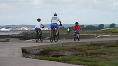 cycling the coast path (jump for joy2010) Tags: uk england somerset huntspill seawall flooddefence coastalpath lookingtowardsburnhamonsea cycling outdooractivity coast riverparrett september 2016 englandcoastpath