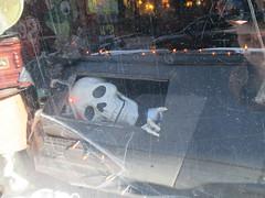 Skeleton in Coffin Halloween window display 7266 (Brechtbug) Tags: skeleton coffin window display lillies restaurant bar west 49th near 8th avenue coffins skeletons pumpkin displays new york city 2016 nyc halloween jack o lantern jackolantern pumpkins plastic holiday windows 10242016 orange lillie langtry victorian