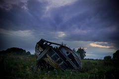 11-0621 (pancernik123) Tags: nikon d5100 landscape outdoor poland polska nature sky nikkor sunset cloud boat