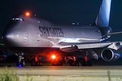 VP-BCI B747-400 Sky Gates (RobBominaar) Tags: boeing 747 747400 b747400f cargo freighter maastricht aachen airport beek mst ehbk departing night pushback sky gates international silkway west airlines vpbci jumbo jumbojet
