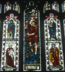 [45596] St Editha, Tamworth : John Peel Window (Budby) Tags: tamworth staffordshire church window stainedglass preraphaelite