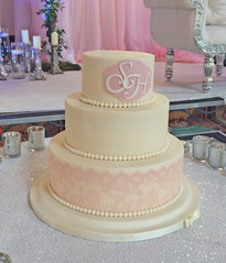 Pink & Ivory Monogram Wedding