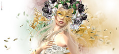 Leed d Fryle | The GOLD mask  (AyE  I'  voT) Tags: digitalart digitalpainting digitalfantasy painting artworks portraits beauty illustrations artportrait ritratto retrato portrature dreamy vision magical emotionalart emotional thegoldfairy lode zenith gold mask goldmask fairy faires flowers flowerheadpiece