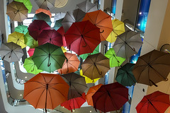 the colors of rain (Blende1.8) Tags: homeofsaturn sevens dsseldorf duesseldorf umbrella umbrellas regnschirm regenschirm regenschirme bunt bunte farbig colorful colourful vivid nrw galerie shopping indoor interior art kunst apple iphone 6s mobile city urban stadt carstenheyer