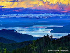 Hood Canal (George Stenberg Photography) Tags: washingtonstate pacificnorthwest hoodcanal clouds twilight sunset trees water