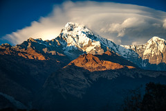 Annapurna South and Hiunchuli, Annapurna Himalayas, Nepal (CamelKW) Tags: nepal annapurnasouth hiunchuli annapurna himalayas