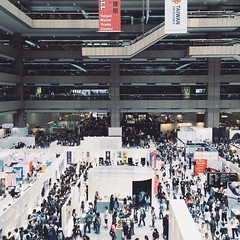Mass of people in a design exhibition. (Ashyblue07) Tags: crowd crowed lifestyles architecture busy exhibition taipei taiwan massive iphone5s iphonephotography