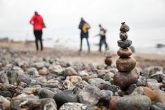 Fehmarn - Tag 5 (O.I.S.) Tags: fehmarn deutschland germany ostsee sea meer herbst autumn fall strand beach coast kste katharinenhof naturstrand pile haufen turm steine pebbles kiesel