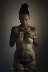 Anita... (Ral Barrero fotografa) Tags: seleccionar tattoo girl portrait nude sexy