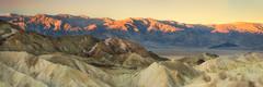 Dawn over Panamint Mountains, Death Valley NP (tburling) Tags: badlands dawn deathvalley goldenhour landscape mountains panamintmountains rocks sunrise zabriskiepoint furnacecreek california unitedstates us