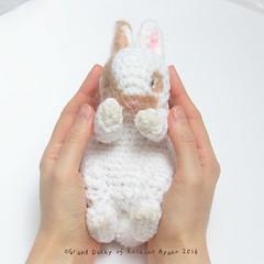 Amigurumi sleeping baby bunny (ayano-pany) Tags: amigurumi amigurumibunny bunny babybunny baby crochet handmade brown spot