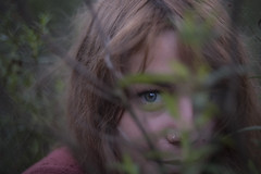 Chiara #2 (edgardomaxia) Tags: people beautiful beauty wood autumn portrait girl cute pretty eyes red green hair bokeh 50mm