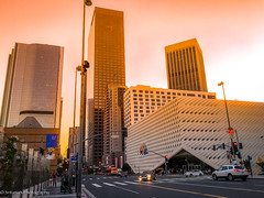 Down Town LA- Street View (Shree's~Passion~Photography) Tags: city down town landscape los angeles usa california scenic skyline summer sunset skyscrapper architecture building tall sun street photography sky beauty downtown travel blue night light urban beautiful