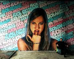 Christopher (Sebastian Kroll) Tags: hipstamatic graffiti portrait fuck you berlin teufelsberg nsa abhörstation