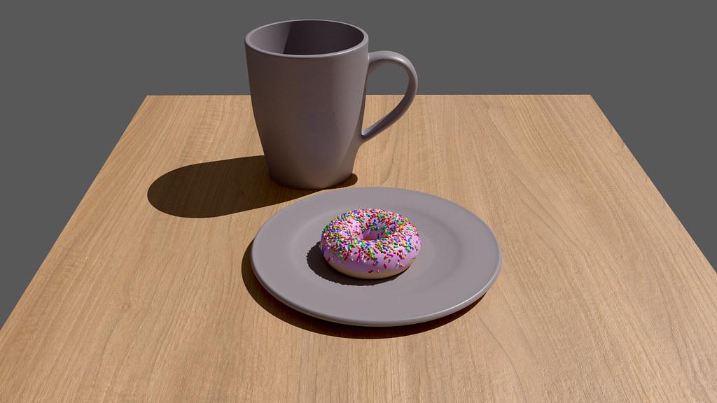 how to make donut and mug on blender