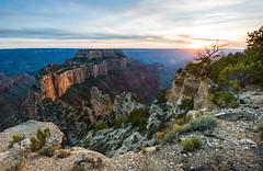 Sunset at Cape Royal (lifehappenstoyou) Tags: america amerika arizona caperoyal grandcanyon grandcanyonnationalpark grandcanyonnorthrim nordamerika northamerica northrim usa unitedstatesofamerica vereinigtestaatenvonamerika canyon view overlook cliff color landscape southwest
