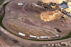 Superwood Corporation in Duluth, Minnesota 1989 F (Twin Ports Rail History) Tags: twin ports rail history by jeff lemke time machine duluth minnesota aerial photograph pulpwood industry superwood corporation hardboard 1989