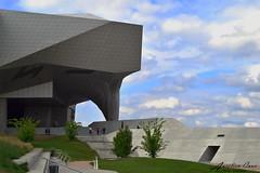 Muse des confluences (aurelcaux) Tags: abstract architecture urban btiment structure abstrait diagonale gomtrique infrastructure lignes motif poutre grey lyon city cityscape modern