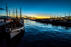 Port of Oslo at Sunset, Oslo, Norway (Davide Tarozzi) Tags: portofosloatsunset oslo norway sunset port boat colours