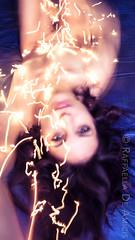 Dynamic Serenity (RaffaLUCE) Tags: art fineartphotography woman nude splittoning longexposurephotography sparks electric energy movement motionblur lightpainting brunette fineartnude modernnude ergetic eyecontact