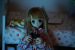 Playing video games! (Nina's Doll *MAKEUP COMMISSION CLOSED*) Tags: azone koron sweet punk girl ex cute diorama rement doll anime