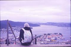 Bergen, Norway. (sullen_snowflakes) Tags: bergen norvegia norway analogico analog panorama ragazzo boy boyfriends fujifilm