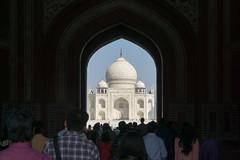 Tramples at the Taj Mahal Agra (JohnNguyen0297 (slowly catching up)) Tags: taj mahal mausoleum white marble iconic entrance agra india a6000 ilce6000 johnnguyen0297 johnnguyen travel tajmahal