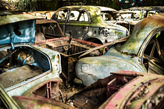 L1000859 (Bruno Meyer Photography) Tags: cars carcass rust colors vintage hangar photography explore leica leicaimages leicacamera leicam240 leicacamerafrance raw edit nokton 50mm voigtlander lost nowhere scraps metal