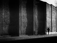 the wall (Sandy...J) Tags: olympus streetphotography blackwhite bw urban monochrom noir