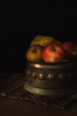 Happy Thanksgiving! (suzanne~) Tags: thanksgiving apple fruit pear stilllife tabletop indoor artistic painterly