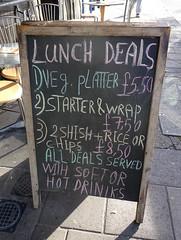 Lunch board at the Orange Room, Mile End, London E3 (Kake .) Tags: london mileend bow e3 lebanese cafe restaurant
