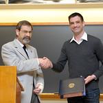 Associate Professor Robert Wickesberg, Nathan Todd: Mabel Kirkpatrick Hohenboken Award