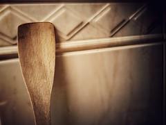 A portrait (J.C. Moyer) Tags: woodenspatula spatula kitchen wood tiles colour color rustic