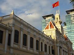 Red flag flying high (Carlton Browne) Tags: vietnam saigon ho chi minh city