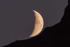 Crescent Moon (*Jonina*) Tags: iceland sland faskrudsfjordur fskrsfjrur moon tungli jnnagurnskarsdttir december5th2016