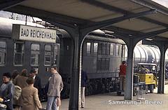 Bad Reichenhall Bahnhof BR 144 DB 03-1973 (Pacific11) Tags: eisenbahn train track railway railroad bayern freilassing bad reichenhall elok vintage alt 1973 bahnhof