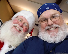 Two Guys with Beards (Jim Frazier) Tags: publicgarden 2016 botanic botanicgarden botanicalgarden botanicalgardens cantigny cantignypark christmas december dupage dupagecounty gardens horticulture il illinois interior jimfraziercom lejardin museum park parks preserve restaurant santa snow wheaton claus q3 selfie people portrait portraiture ofme selfportrait me self beards white fastpictures f10