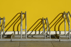 bike racks_DSC9347-102ND800 (horstg1) Tags: bicycle racks yellow shadows