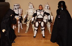 Inspection Day (ToyPhotos) Tags: custom 6inch blackseries starwars imperial supertrooper squad emperor palpatine darth vader darklord sith jango boba fett stormtrooper hasbro toy action figure