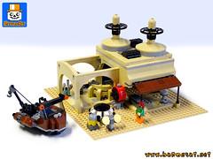 TATOOINE JUNK STORE (baronsat) Tags: lego mos eisley espa tatooine diorama playset custom moc model instructions