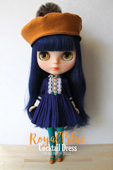 """""""Royal Blue Cocktail Dress"""" for Neo Blythe dolls (Chu Things) Tags: blythe neo takara tommy blythedoll doll custom work sewing miniature lace fabric care love chuthings handmade clothes"""