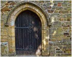 The test of time (hehaden) Tags: door wood church stone wall sussex wooden wivelsfield