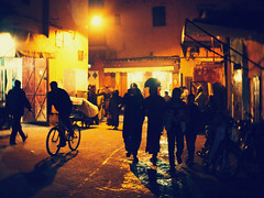 Through the Medina (Bjrn Giesenbauer) Tags: street lamp bike night morocco marrakech medina marrakesh