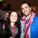 Director Khaled Jarrer with EIFF deputy artistic director Diane Henderson attending Drinks at the Apex