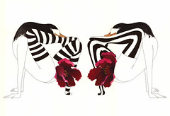 (amanda mijangos) Tags: flower bird art nature girl mxico illustration ink painting drawing patterns feathers textures ave gouache dibujo mujeres tinta pjaro ilustracin lneas