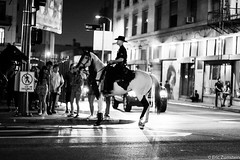 LAPD @ Art Walk Los Angeles (Eric Zumstein) Tags: street bw horse downtownla streetphotos lapd canon40d artwalkla