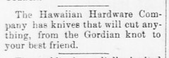 Cutting Your Best Friend with a Knife (UH Manoa Library) Tags: news history hawaii newspaper hawaiian historical digitization digitize newsbrief chroniclingamerica ndnp