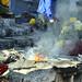 Vengono accesi falò rituali maya