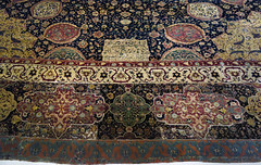 Ardabil Carpet, detail with edge